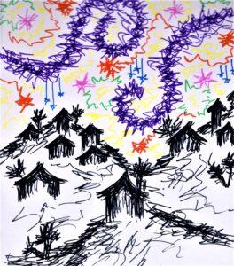 """Magical Skies."" By Lyna Chai"